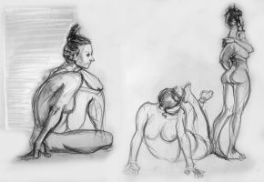 Life drawing - June 2016 by Gizmoatwork