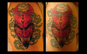demon tattoo colored by MRHaZaRD