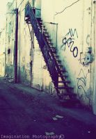 Ladder In The Alley by xSweetNightmarex