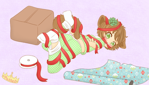 4th day of YCHmas: Wrapping Presents by Pastel-Hime