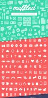 Muffled Icon Set-101 Vector Icons + Custom Shapes by Softboxindia