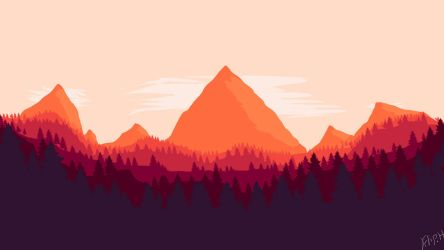 Firewatch by Filip wallpaper size 1920x1080 by PewPewMannen