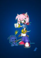 Amy and her Chao XD by Psychograve