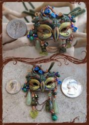 Dryad Faery Mask - scale by phee-adornments