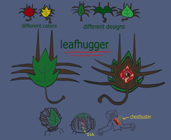 Leafhuggers  (Rough sketch with color) by megalon1337