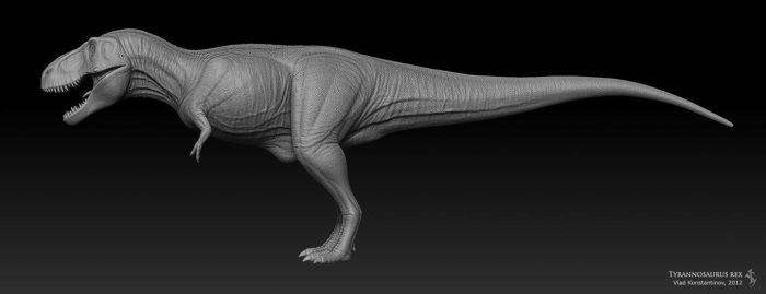 Tyrannosaurus rex for ROM WIP by Swordlord3d