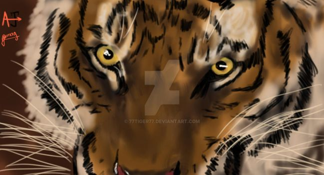 Fire in the eyes by 77tiger77