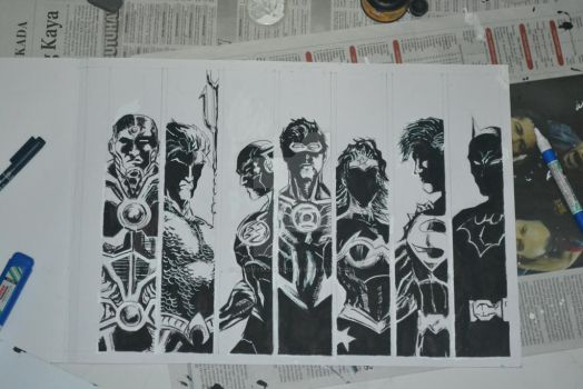 Justice League - Silhouette *Work In Progress* by anonymous1310