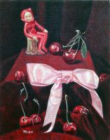 Still Life with Devil Figurine by hank1