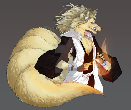 Ninetails Firemage by prayforelves