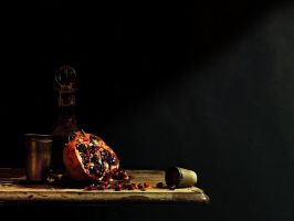 Still Life with Pomegranate by MarkScheider