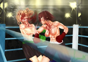 Emily Faul vs. Veronica Eagle Part 3 by Mechassault-Man