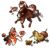 (CLOSED) September Special: Autumn Mixed Adopts by AshenSpectre