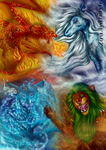 The War Of Four Elements by avafury