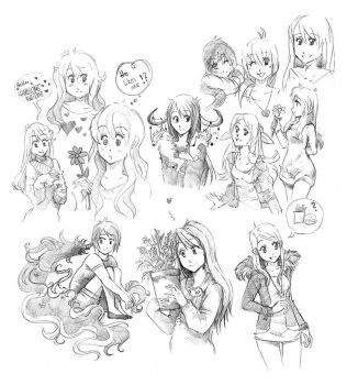Sketches by one-night-flower