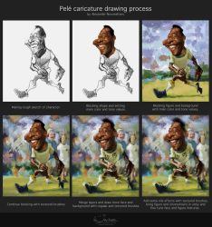 Pele Drawing Process by creaturedesign