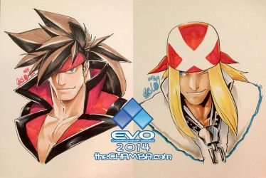 EVO 2014 - 02 - Sol Badguy + Axl Low by theCHAMBA