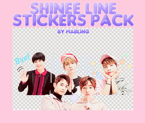 SHINEE Line Stickers by mabling by mabling