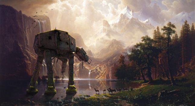 AT-AT Among the Sierra Nevada by fantasio