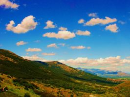 View from El Escorial by Pania-of-the-Reef