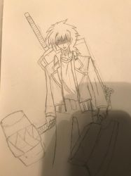 Issei Hyoudou (Requires fixing) by DraggonnReaper
