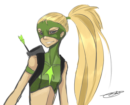 Artemis from Young Justice by EasyToRememberr