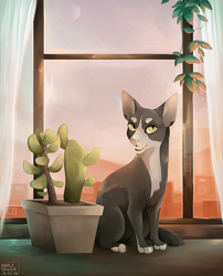Cactus Cat by MapleSpyder