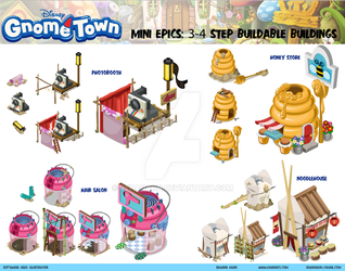 Disney's Gnometown Mini Epics Sheet by RehanaKn