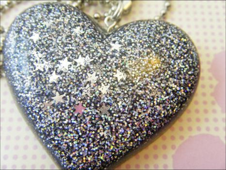 Galaxy - Resin Necklace by elephont