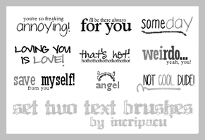 Set Two Text Brushes by Incripacu