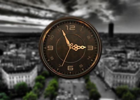Vintage Cool Clock for xwidget by Jimking