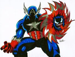 Symbiote Captain America by MikeES