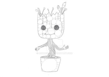 Baby Groot by Anqueetas