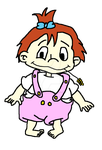 Rugrats OC: Juliana Pickles 1 year old by Noizy-Bunny
