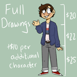 Full Drawing commissions by Braang