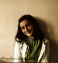 Anne Frank Smiling by MissyLynne