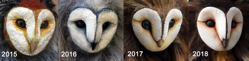 Barn Owl Sculpting Progression by AnyaBoz