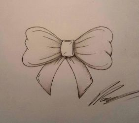 Bow Tattoo Design by PeteDomoney