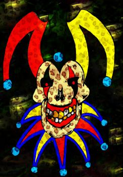 Skull Jester by DaveErving