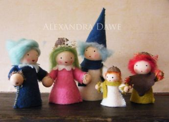 Wood and felt dolls by alexandradawe