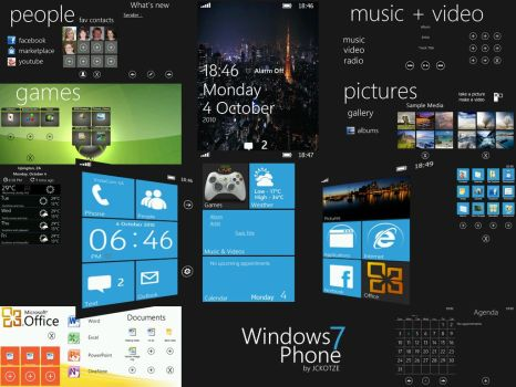 WP7 Blue WAD2 VGA Theme by CAY720325