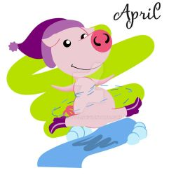 Piggy for every month in 2019 April by Krav1tzz