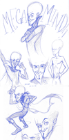 Megamind Sketches by Gingerscoffee
