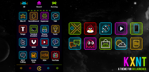 Go Launcher Ex Neon Minimal Theme by kantbstopped519