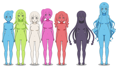 Slime-girl Types by Tysaylor141