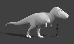 Tyrannosaurus interesting pose render by Paleop