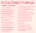 30 day design challenge by SHOUTMILO