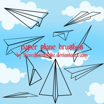 paper plane brushes by theredsnowflake