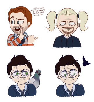 Cursed Child Doodles by HideTheDecay