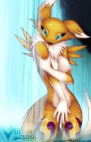 Renamon: Candid Shower by tailsrulz